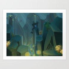 Into the Ocean Art Print