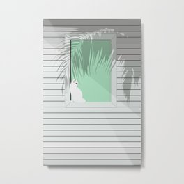 Mint and cat Metal Print