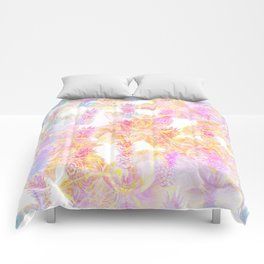 Abstract Pastel Pineapple Comforters
