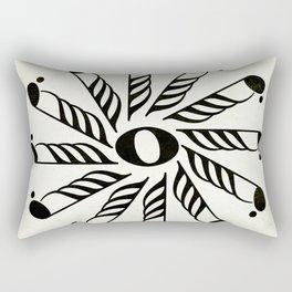 Vignette music note mandala Rectangular Pillow