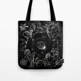 XXI. The World Tarot Card Illustration (Zodiacs) Tote Bag