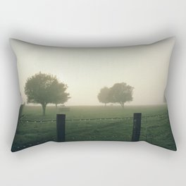 Misty Morning in the Waikato King Country Rectangular Pillow