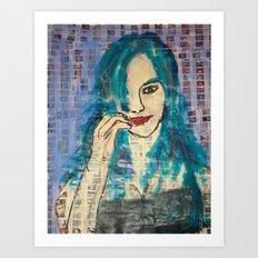 OOPS GIRL Art Print