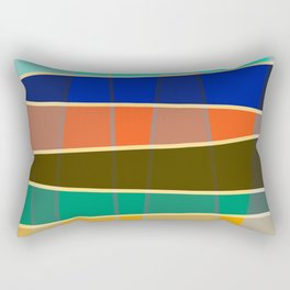 Minimal Colorful Stripes Rainbow Rectangular Pillow