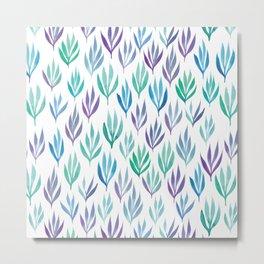 Watercolour Ferns Metal Print