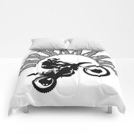 Brrraaaaap Checkered Flag Moto Language Comforters