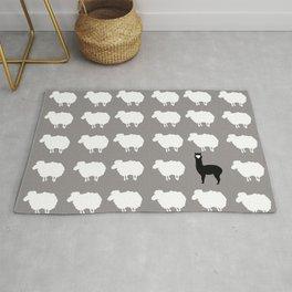 Don't be a sheep, Be a Llama Rug