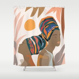 Women with the Turbans Shower Curtain