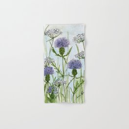 Thistle White Lace Watercolor Hand & Bath Towel