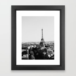Paris City Sky // Eiffel Tower City Landscape Photography Shot from the top of Champs Elysees France Framed Art Print