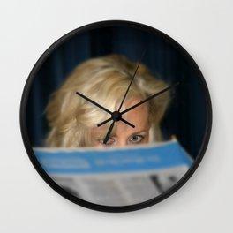 Girl With Umbrella Wall Clock