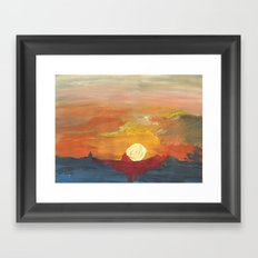 Sunset Impressionist 2 Framed Art Print