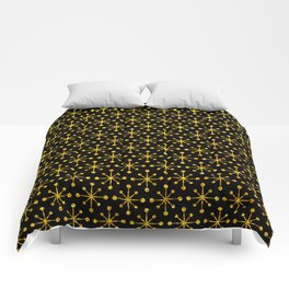 Art Deco Vintage-Retro Gold and Black Pattern Comforters