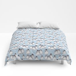 Penguin pattern on blue Comforters