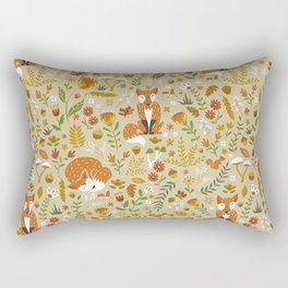 Foxes with Fall Foliage Rectangular Pillow