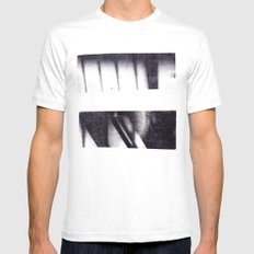 Monotype: Stairs White Mens Fitted Tee MEDIUM