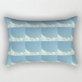 Cloud and sky 8 -cloud, sky, blue, positive,optimism Rectangular Pillow