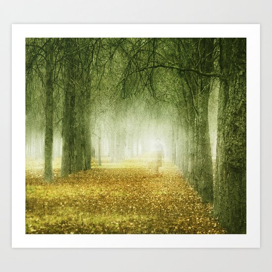 man in the woods Art Print