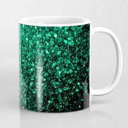 Beautiful Emerald Green glitter sparkles Coffee Mug