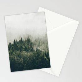 Foggy Mountain Side Stationery Cards