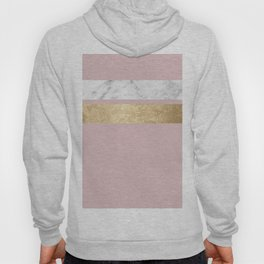 Dusky rose golden marble Hoody