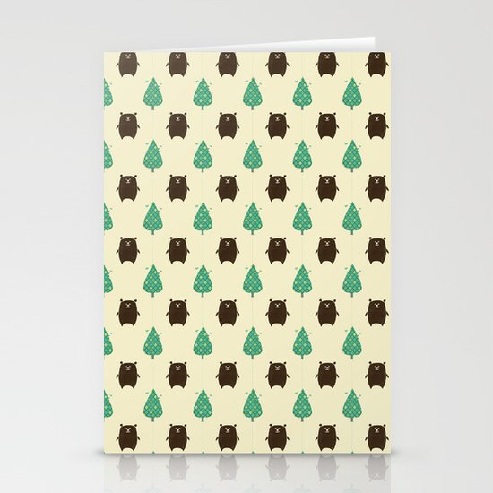 Bears and Trees Stationery Cards