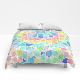 Rainbow Cubes & Diamonds Comforters