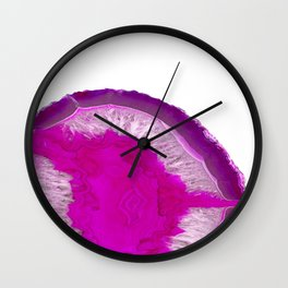 Agate Pink Purple Wall Clock