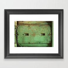 peas. Framed Art Print