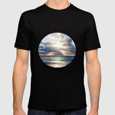 Next To Heaven  Mens Fitted Tee Black MEDIUM