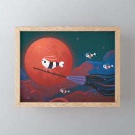 Moonlit night Framed Mini Art Print