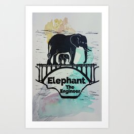 Elephant the Engineer Art Print