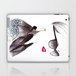 Watercolour Fashion Illustration Titled In Dior Zeli's Laptop & iPad Skin