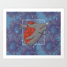 Taking love for granted Art Print