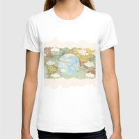 world maps T-shirts featuring Off The Maps by Grace M