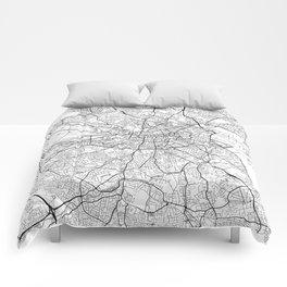 Dublin Map White Comforters