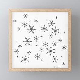 Crochet Impressions: SNOWFLAKE[s] Framed Mini Art Print