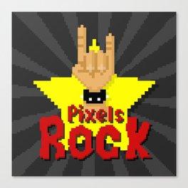 Pixels Rock Canvas Print