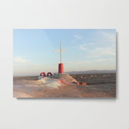 From the top of Salvation Mountain Metal Print