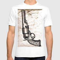 American Pistol II MEDIUM White Mens Fitted Tee