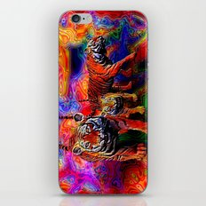 Psychedelic Tigers iPhone & iPod Skin