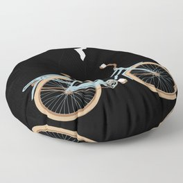 Cat on Bike Floor Pillow