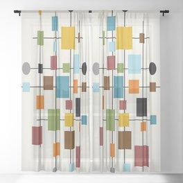 Mid-Century Modern Art 1.3 Sheer Curtain