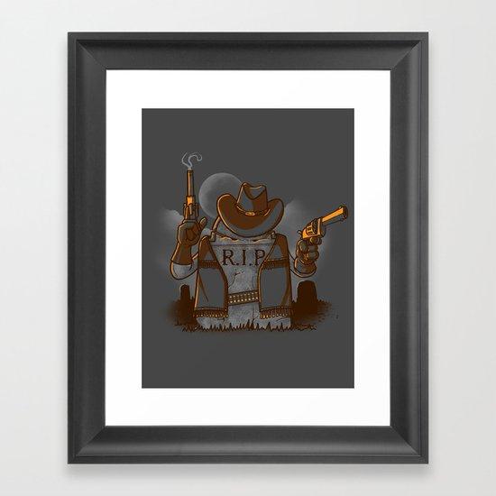 Tombstoned Framed Art Print