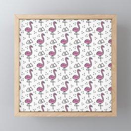 Flamingo Flock Framed Mini Art Print