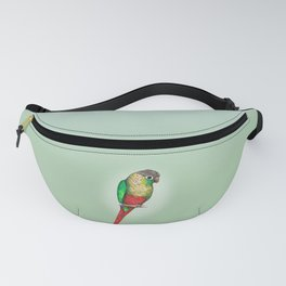 Conure with a heart on its belly Fanny Pack