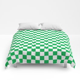 Green Checkerboard Pattern Comforters