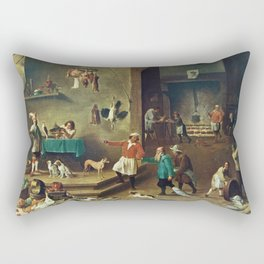 The Kitchen by David Teniers the Younger Rectangular Pillow