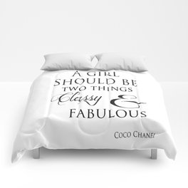A Girl Should Be Two Things Classy & Fabulous Quote Comforters