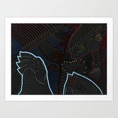 Consent between two worlds Art Print
